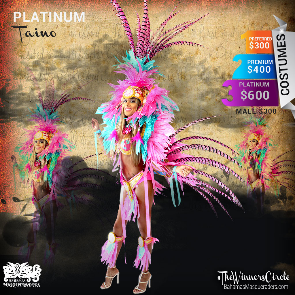 Bahamas Masqueraders Bahamas Junkanoo Carnival 2016 Platinum Headpiece with Pheasant Feathers, Tail and Shoulder piece $600