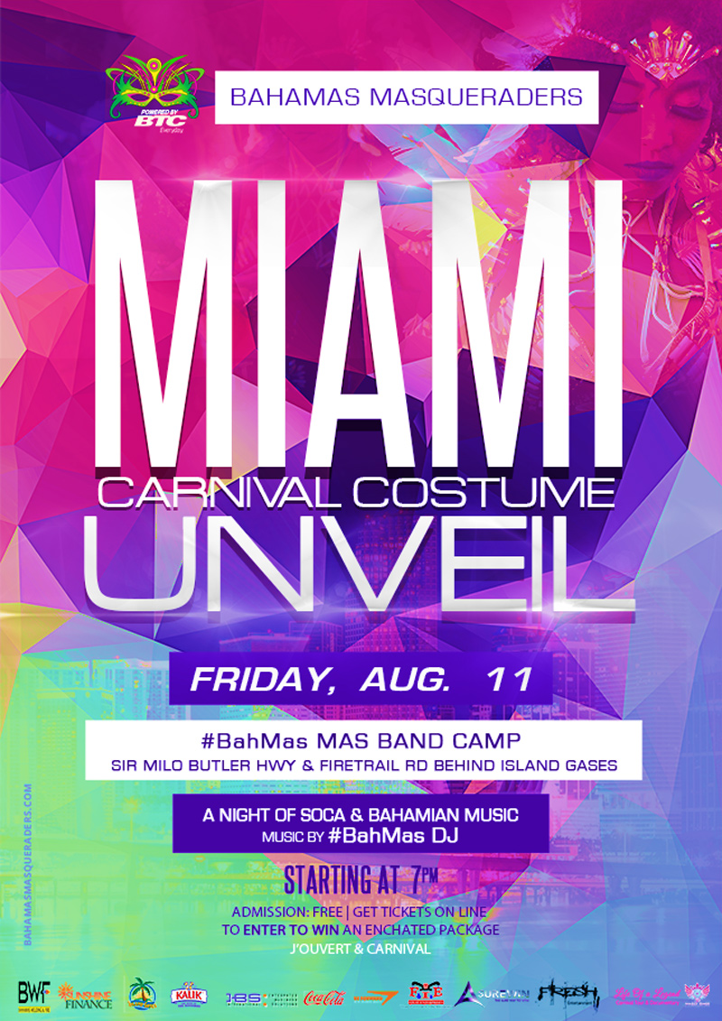 Bahamas Masqueraders Miami Carnival Costume Unveil