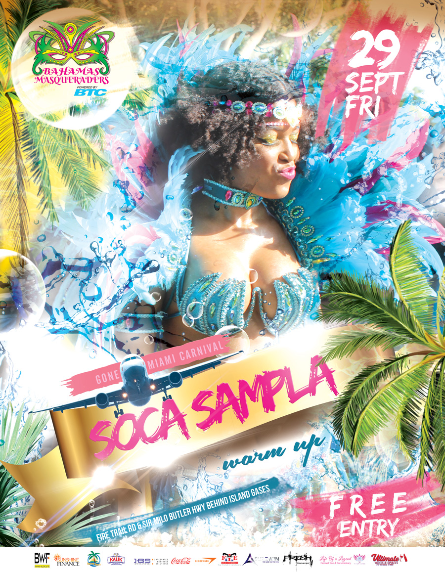 Miami Carnival Soca Sampla pre Party by Bahamas Masqueraders